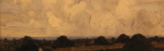 Coffee Lecture - Turf Bog Scene by Paul Henry