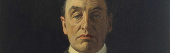 Coffee Conversation: Portrait of John Redmond and Portrait of Edward Carson by John Lavery