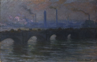Coffee Conversation- Waterloo Bridge, Claude Monet