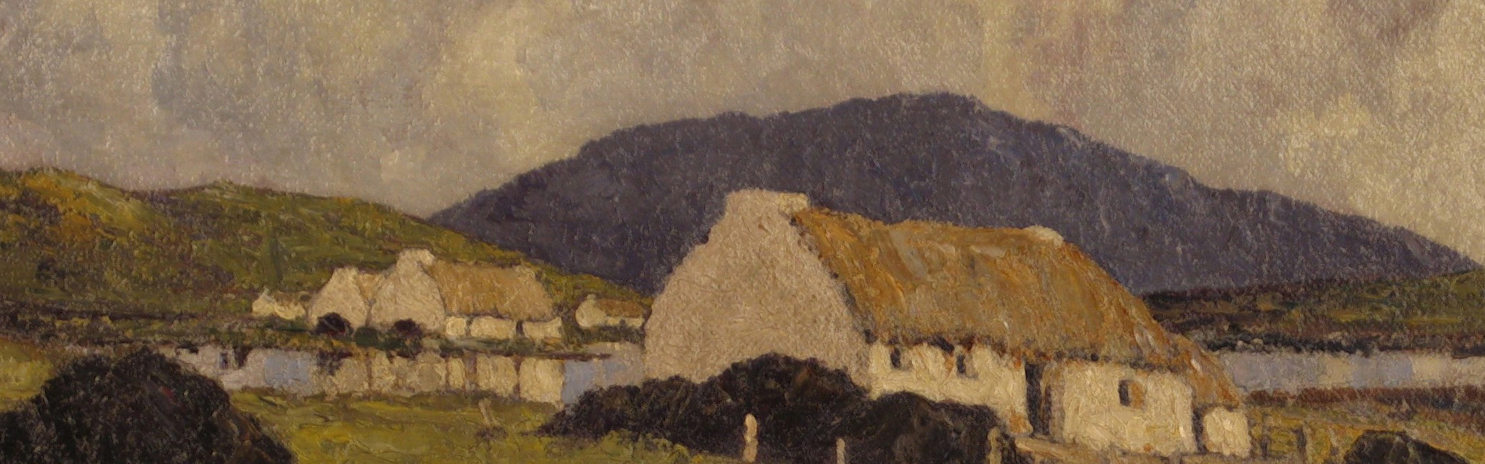 Coffee Conversation - Lakeside Cottages, Paul Henry