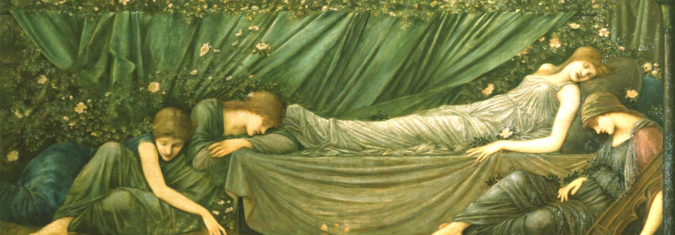 Coffee Lecture - The Sleeping Princess (c.1872-74) by Edward Burne-Jones
