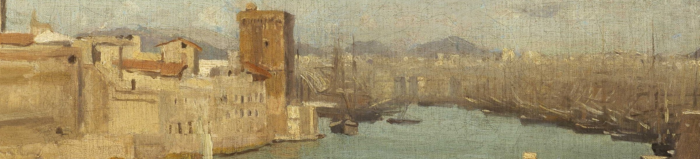 Coffee Conversation: Marseille: The Old Port by Jean-Baptiste-Camille Corot